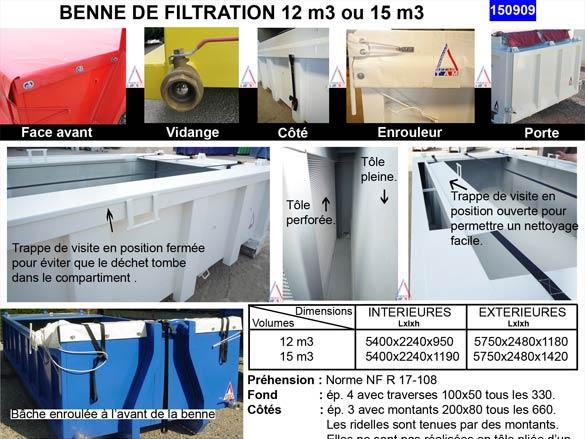 Benne de filtration