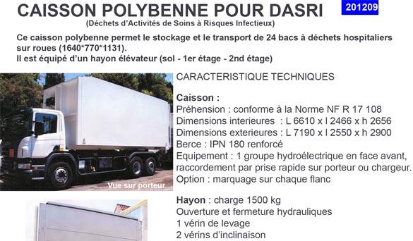 Caissons polybenne pour DASRI (déchets d'activités de soins à risques infectieux) : TAMROCHbennes