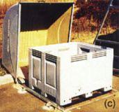 Conteneur pour batteries usagées