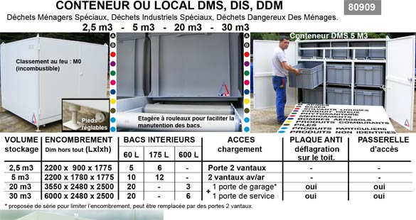 Conteneur ou local DMS : TAMROCH bennes
